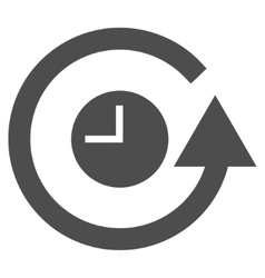 Restore clock flat icon vector