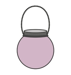 Mason jar isolated icon design vector