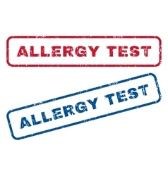 Allergy test rubber stamps vector