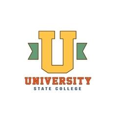 Big U Letter Logo vector image vector image