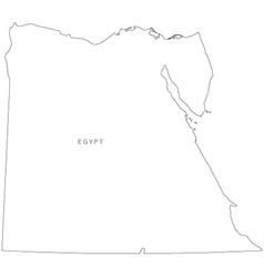 Worksheet. Egypt outline map set Royalty Free Vector Image