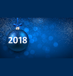 Blue shining 2018 new year background vector