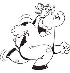 Cartoon Running Cow vector image vector image