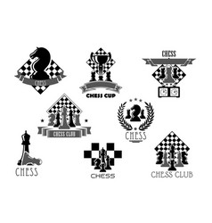 Chess club or tournament icon for sporting design vector