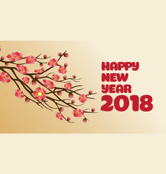 Chinese new years blossom decoration for spring vector