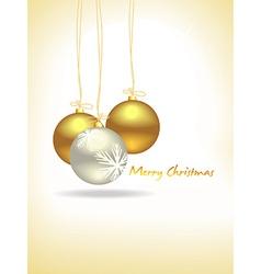 Christmas gold balls vector