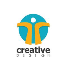 circle people creative logo vector image