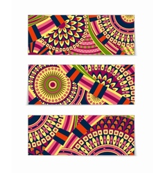 Colorful tribal ethnic theme banner design vector