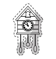 Cuckoo clock icon image vector