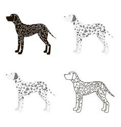 Dalmatian icon in cartoon style for web vector