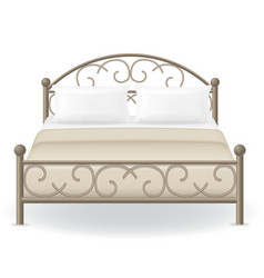 double bed 03 vector image
