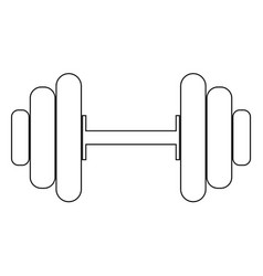 dumbbell the black color icon vector image vector image