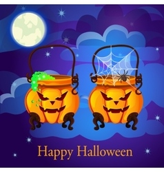 Evil twin pumpkin in the form of boilers vector