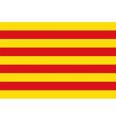 Flag catalonia vector