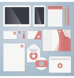 Flat corporate identity vector image