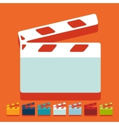 Flat design clapper cinema vector