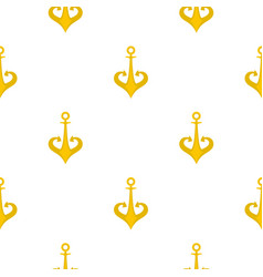 Gold anchor pattern flat vector