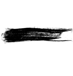 Ink dry brush stroke vector