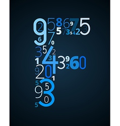 Letter f font from numbers vector