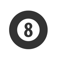 logo for billiard school club or shop vector image vector image