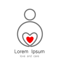 Logo template love care vector