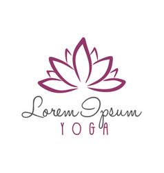 lotus flower yoga beauty center logo vector image vector image