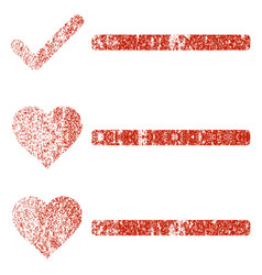 Love list grunge texture icon vector