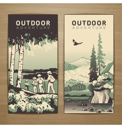 Outdoor flyer vector