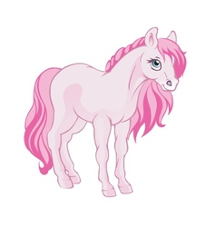 Pink horse vector