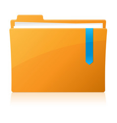 Pixel perfect folder icon vector image vector image