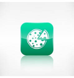 Pizza web icon application button vector