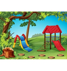 Playground in the park vector image vector image