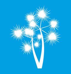Prickly palm icon white vector