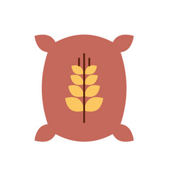 sack of wheat icon vector image