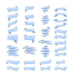 Set of blue ribbon banners for promotion vector image vector image