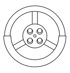 Steering wheel icon outline style vector