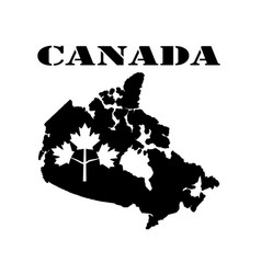 Symbol of canada and map vector