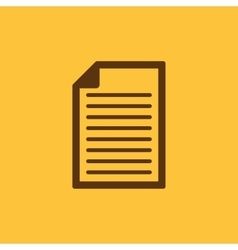 The document icon Notes symbol Flat vector image
