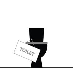 toilet black vector image vector image