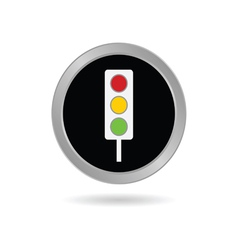 Traffic ligh icon in black vector