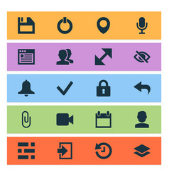 User icons set collection of mike level change vector