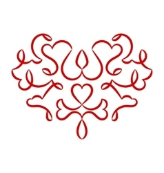 Valentines day heart pattern vector image vector image