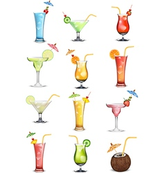 Variations in fruit and vegetable juices vector