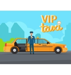 Vip taxi service vector image vector image