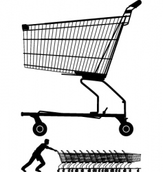 shopping trolley vector image