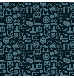 Seamless pattern with social media icons - vector