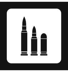 Bullets icon in simple style vector