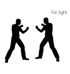 Man in fistfight action pose vector
