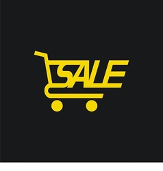 Sale cart icon vector