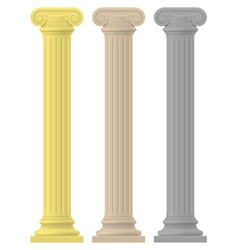 Antique column 02 vector